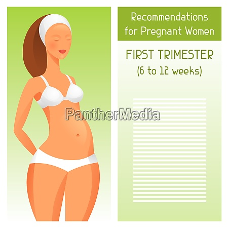 recommendations for pregnant women in first
