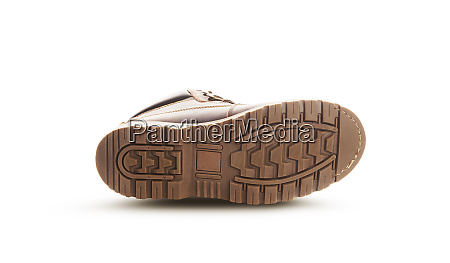 brown boots sole isolated on a