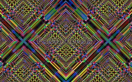 complex multi coloured abstract geometric mosaic