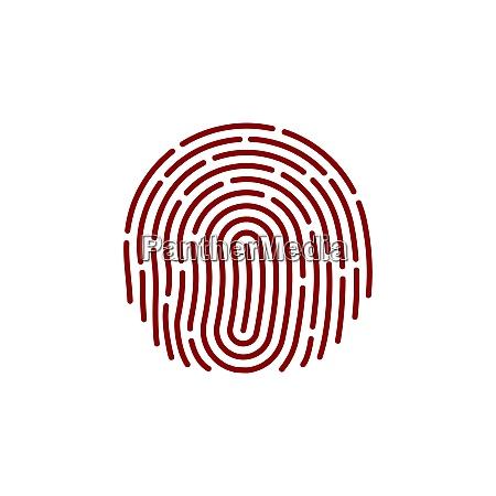 fingerprint icon image flat fingerprint icon