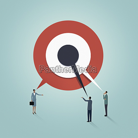business people discussing targets
