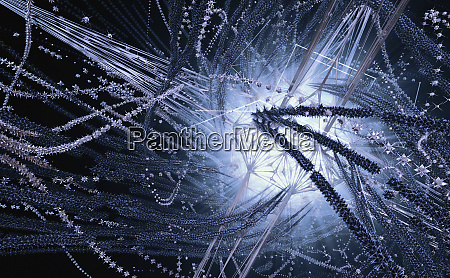 abstract pattern of exploding spiky shapes