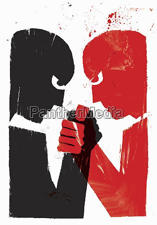 rivals arm wrestling