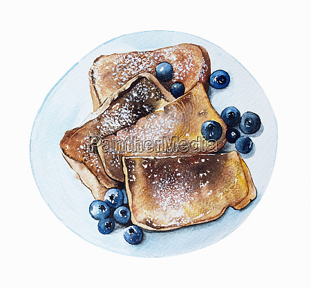watercolour painting of french toast and
