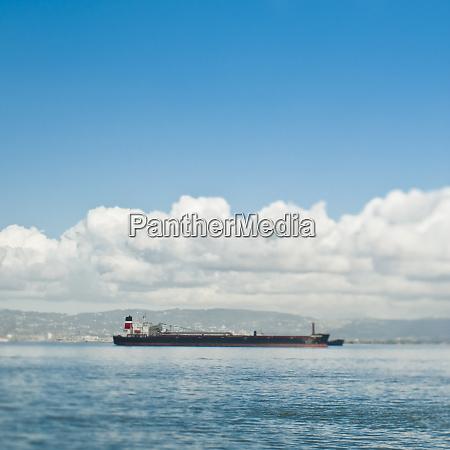 empty cargo ship on the water
