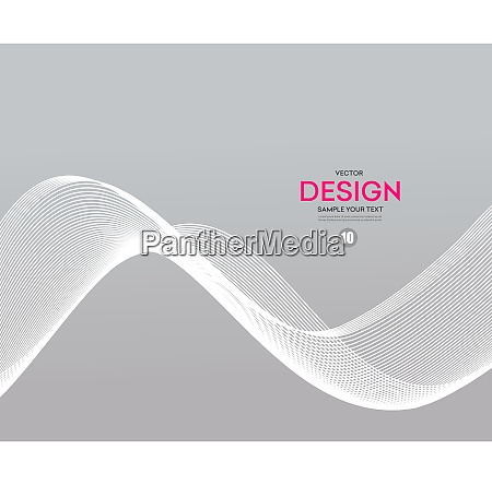 abstract smooth gray wave vector gray