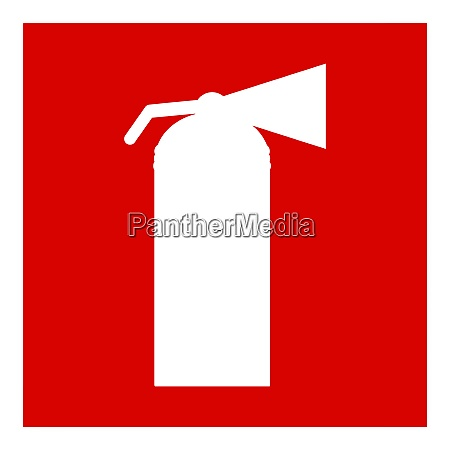 fire extinguisher isolated on a white