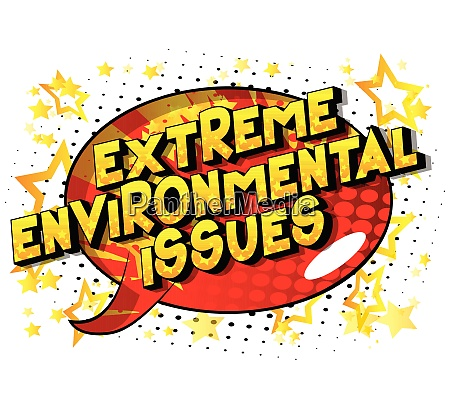extreme environmental issues comic book