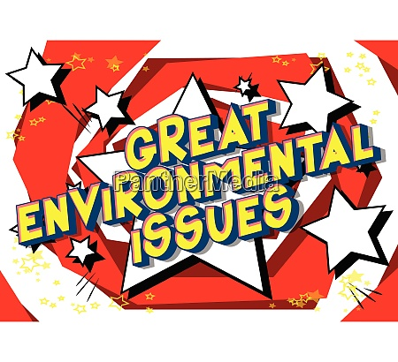 great environmental issues comic book