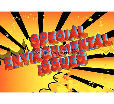 special environmental issues comic book