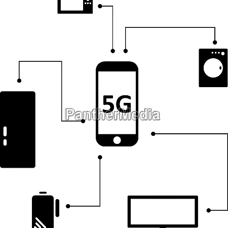 high speed 5g signal mobile connection