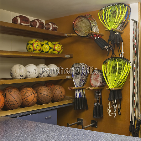 sports equipment display