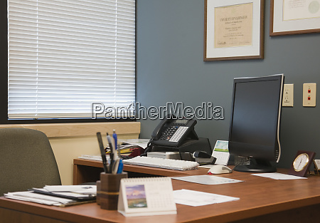 computer monitor and office space
