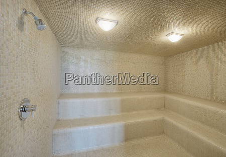 large tile sauna shower