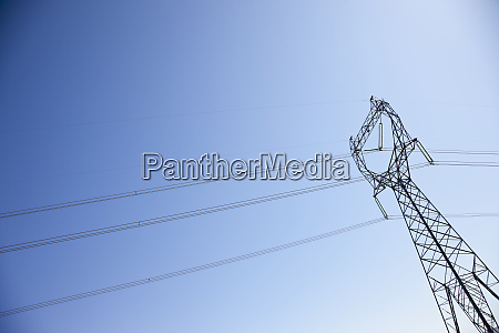 power pylon with power lines