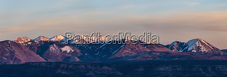 panorama of la sal mountains in