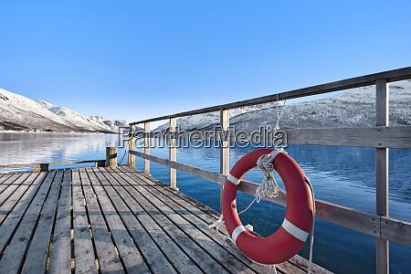 life preserver on pier in tromso