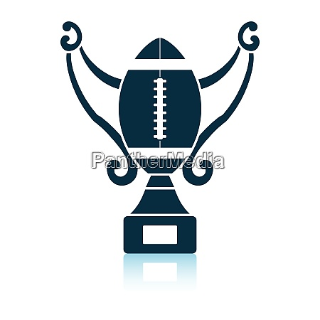american football trophy cup icon