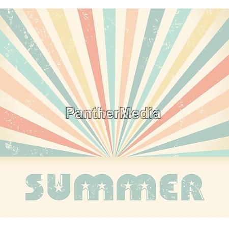 summer vintage vector background