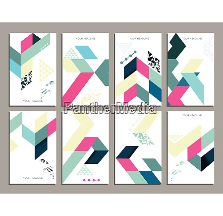 flyers abstract geometric style templates corporate