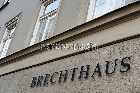 birthplace of bertold brecht at augsburg