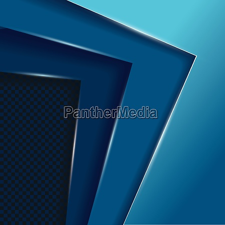 blue layers overlap vector background