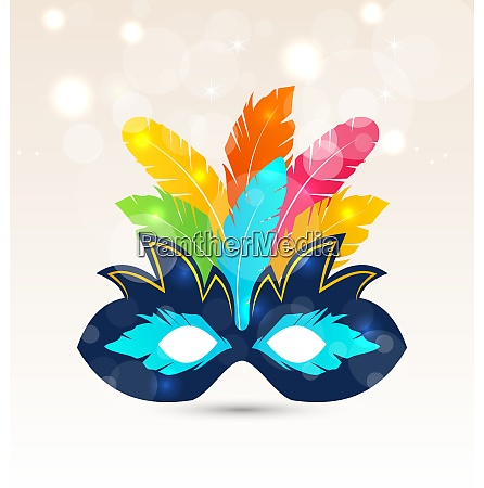 illustration colorful carnival or theater mask