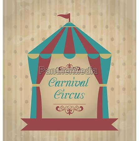 illustration vintage carnival poster for your