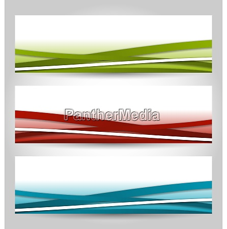 illustration set abstract colorful banners with