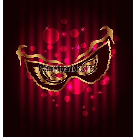 illustration carnival or theater mask on