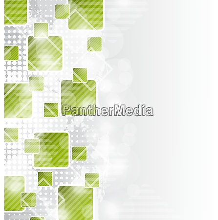 illustration abstract brochure with squares for