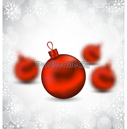 illustration christmas background with red glass