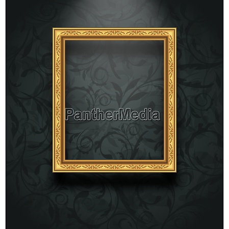 illustration picture frame on floral texture