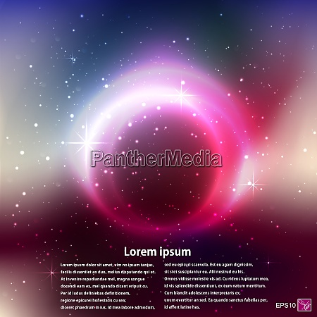 abstract outer space theme