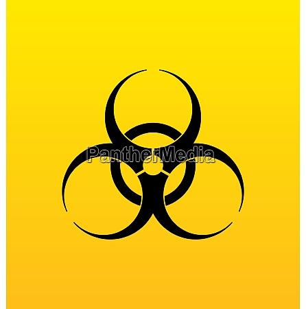 illustration bio hazard sign danger symbol