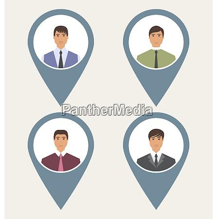 tag set front label portrait users
