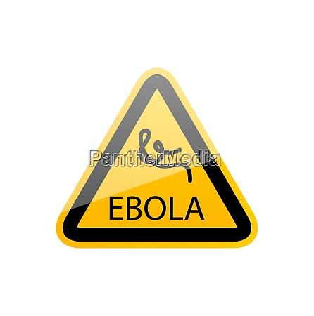 illustration sign epidemic ebola danger symbol