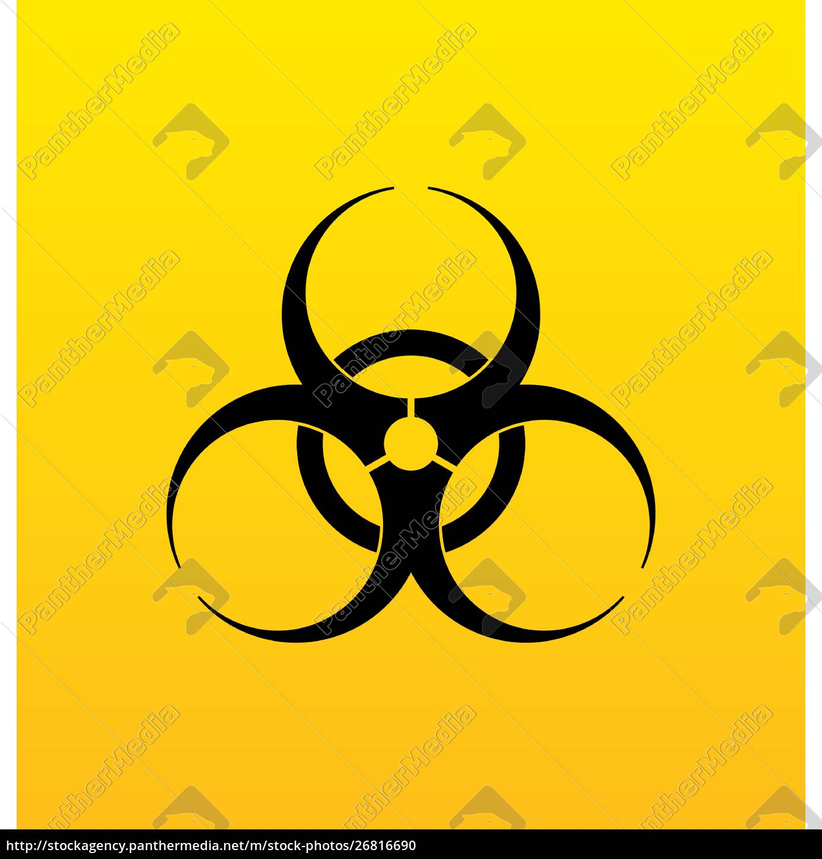 illustration, bio, hazard, sign, , danger, symbol - 26816690