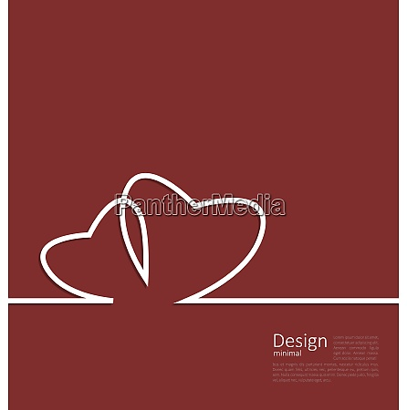 laconic design of couple hearts for