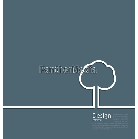 tree standing alone symbol design webpage