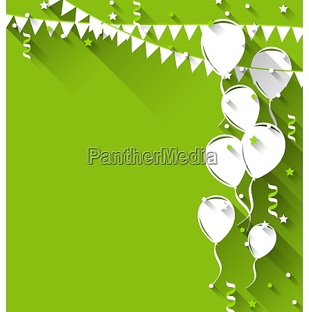 illustration happy birthday background with balloons