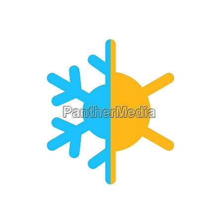 illustration logo of symbol climate balance