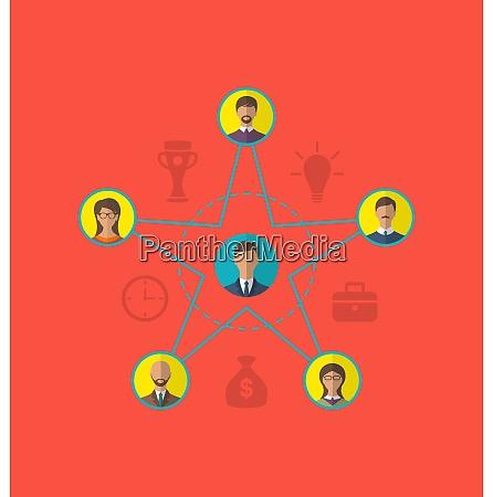 illustration concept of leadership community business