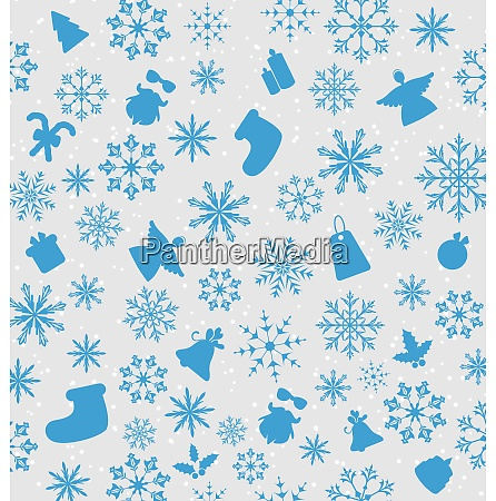 illustration christmas wallpaper with traditional elements