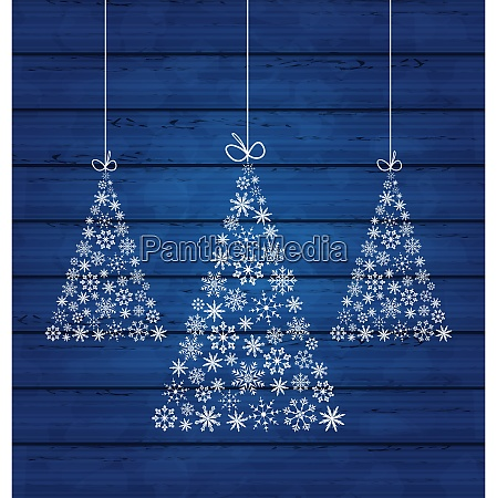 illustration holiday wooden background with christmas
