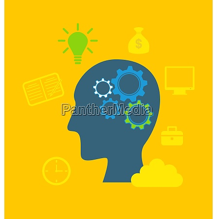 illustration concepts of intelligence intellectual work