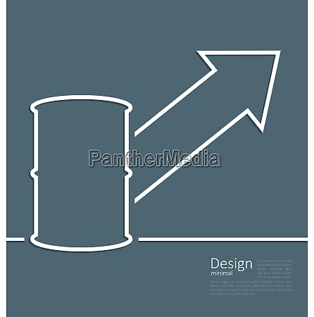 illustration arrow indicating trend grow cost