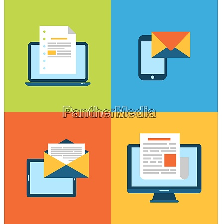 illustration concept of email marketing via