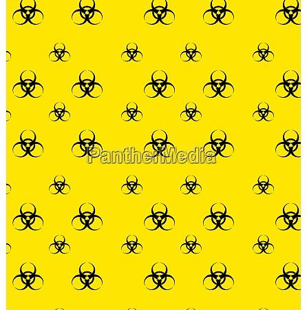 illustration seamless pattern with bio hazard
