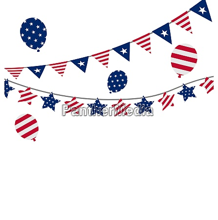 illustration bunting pennants for independence day